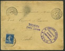 1915 Francia, Lettera Della 14 Compagnie Auxiliaire Genie Reserve Armee Territoriale Per Italia - Wars
