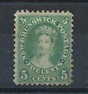 Nouveau-Brunswick N°6 (*) (MNG) 1860/63 - Reine Victoria - Nouveau-Brunswick