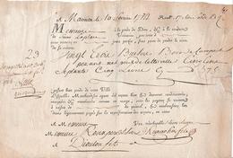 1784 - Roulage Pour Du BOIS DE CAMPÊCHE - 23 Bûches - Marseille à Diouloufet - Documenti Storici