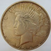 LaZooRo: United States Of America 1 Dollar 1922 XF / UNC - Silver - Émissions Fédérales