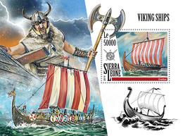 Sierra Leone. 2019  Viking Ships. (1219b) OFFICIAL ISSUE - Boten