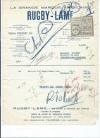 3265 - Facture Rasoir RUGBY LAME PRADERE Villeneuve Sur Lot Blacher Lézignan Récépissé Mandat 1938 - France