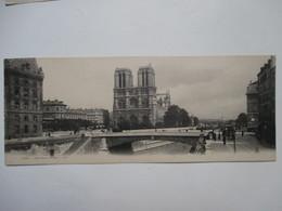 PARIS  -   NOTRE-DAMA   -     CARTE    GRAND  FORMAT   ( 27.5 CM. X 11 CM. )      TTB - France