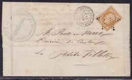 France, Paris - Yvert N° 13A, étoile Pleine Avec Càd 1337 (Indice 9) Sur LAC De 1855 - Cote 85 € - 1849-1876: Période Classique