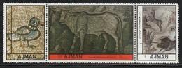 AJMAN - 3 Timbres** (1972) Mosaïque - Ajman