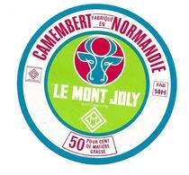 ETIQUETTE De FROMAGE..CAMEMBERT Fabriqué En NORMANDIE (Calvados 14-H)..Le Mont Joly - Cheese