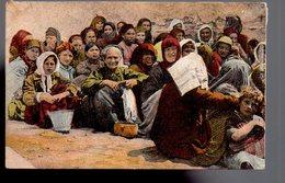 REF 467 : CPA Grece Greece Hellas Salonique Réfugiés - Greece