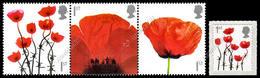 Gran Bretagna / Great Britain 2008-2012: 4 Val. Ricordo Dei Caduti / Lest We Forget, 4 Stamps ** - Militaria