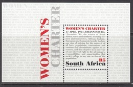 2015 South Africa Women's Charter  Souvenir Sheet MNH - Unused Stamps