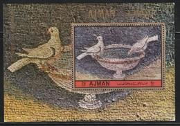 AJMAN - BLOC N°383 ** (1972) Mosaïque / Oiseaux - Ajman