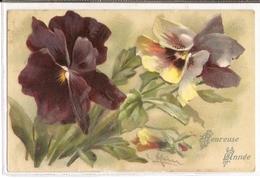 BL 197, OLD FANTASY POSTCARD , FINE ART FLOWERS And  STILL LIVE , Signed C. KLEIN - Klein, Catharina