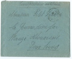 3267 - Enveloppe + Lettre 1918 WW1 Première Guerre - MAUZE THOUARSAIS GOURAUDIERE - Storia Postale