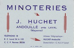 Andouillé Minoteries J Huchet - Visitekaartjes