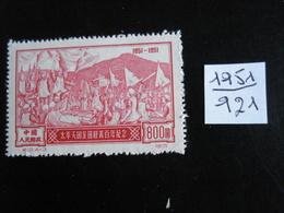 Chine - Année 1951 - Insurrection De Talping - Y.T. 921 - Oblitérés - Used - Gebruikt