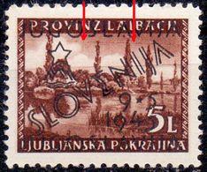 "YUGOSLAVIA - SLOVENIA - LJUBLJANA Loco. ERROR "" LINE WIRE"" - **MNH -1945 - Slovenia"