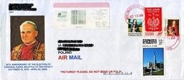 PAPE JEAN PAUL II USA SCARCE ONE STAMP $27 PERSONALIZED MONUMENT POPE JOHN PAUL II Cover PAPA PAPST - Papes