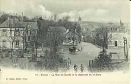 Evreux -- La Rue De Lycée Et La Descende De La Gare.    ( 2 Scans) - Evreux