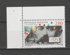 FRANCE / 1994 / Y&T N° 2889 ** : CIO / Pierre De Coubertin X 1 CdF Sup G - France