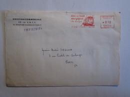 Lettre Cachet Paris 96 Avec Le Train Vous Gagnez Du Temps SNCF - Marcophilie (Lettres)