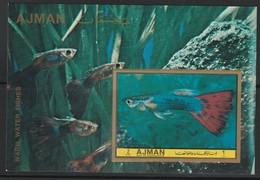 AJMAN - BLOC ** NON DENTELE (1972) Poissons - Ajman
