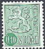 Finland 1962 0.10 Leeuwentype Groen Fluorescerend PF-MNH-NEUF - Finland