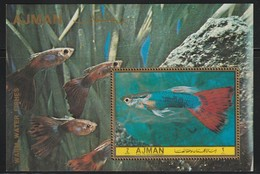 AJMAN - BLOC **  (1972) Poissons - Ajman
