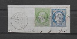 AFFRANCHISSEMENT MIXTE SEPT 1871 Sur FRAGMENT De RAISMES (NORD) AveC GC 3077 - Marcophilie (Timbres Détachés)