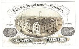 OFFENBURG - KIRSCH BRENNEREI - G. & L. STEIN In OFFENBURG Bad. Schwarzwald - Offenburg