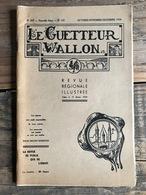 LE GUETTEUR WALLON 137 1956 Régionalisme Seigneurie De Baillonville Et Rabozée Avoués Dame Avoueresses De Fosse LECRIQUE - Culture