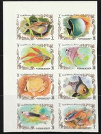 AJMAN - N°1312/9 ** NON DENTELE  (1972) Poissons - Ajman