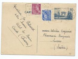 3269 - Entier Postal Arc De Triomphe 1940 WW2 ALET LES BAINS Lucens Mercure BALLAUD BALLARD Daguin - Entiers Postaux