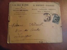 Enveloppe, Postée à Royan  Pour  Limoges, 1905 - Marcophilie (Lettres)