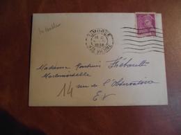 Enveloppe, Postée à LIMOGES  Pour  Limoges, 1938 - Marcophilie (Lettres)