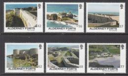2015 Alderney Forts Complete Set Of 7 MNH @ 80% Face Value - Alderney