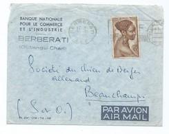 3272- Enveloppe Berberati Oubangui-Chari Société Du Chien De Berger Allemand 1955 AEF Beauchamps BNCI AIR MAIL PAR AVION - Centrafricaine (République)