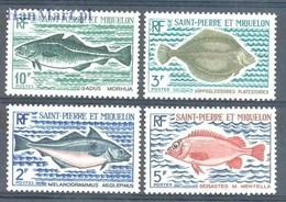St. Pierre & Miquelon 1972 Mi 478-481 MNH ( ZS1 SPM478-481 ) - Peces