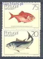 Madeira 1986 Mi 104-105 MNH ( ZE1 MDR104-105 ) - Peces