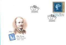 FDC 942 Czech Republic Mauritius 2017 Stamp On Stamp - Briefmarken Auf Briefmarken