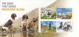2015 Australian Antarctic Territory Dogs Macquarie Souvenir Sheet MNH @ 90% Face Value - Nuovi