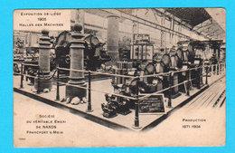 CPA Expo Liège 1905 Halle Des Machines - Sté Du Véritable Emeri De Naxos Franfort S/Mein - Production 1871-1904 - Liège