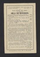 DOODSPRENTJE * AMELIA VAN WASSENHOVE * BEGIJN TE GENT NIEUW BEGIJNHOF ST AMANDSBERG * ° RUISSELEDE 1893 GENT - Santini