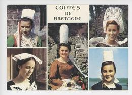 Coiffes De Bretagne Multivues Plougastel Daoulas Pont Aven Chateaulin Porzay Quimperlet Bigouden (n°290 Jos) - Costumes