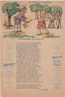 Etablissements Jaquemaire, Villefranche (Rhône). Publicité Papier Les Fables De La Fontaine. Le Bucheron Et Mercure - Publicités