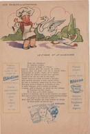 Etablissements Jaquemaire, Villefranche (Rhône). Publicité Papier Les Fables De La Fontaine. Le Cygne Et Le Cuisinier - Publicités