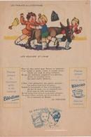 Etablissements Jaquemaire, Villefranche (Rhône). Publicité Papier Les Fables De La Fontaine. Les Voleurs Et L'ane - Publicités