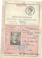 Algérie- Permis De Chasse - 1956 - Dokumente