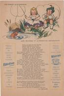 Etablissements Jaquemaire, Publicité Papier Les Fables De La Fontaine. Les Poissons Et Le Berger Qui Joue De La Flute - Publicités