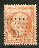 N°23 Oblitéré ANCRE       - Cote 20€ - - 1862 Napoleon III