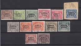 Bayern - 1919 - Dienstmarken - Michel Nr. 30/42 - Gest. - 70 Euro - Bavière