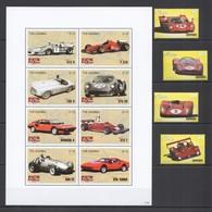 F339 2007 GAMBIA RACING FORMULA 1 F1 CARS FERRARI HISTORY 1SET+1KB MNH - Autos